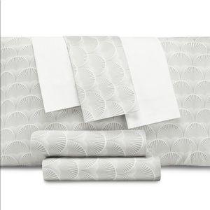 AQ Textiles  Modernist Printed Shell 6-Pc Queen Sh